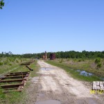 Road-to-down-dip-oil-well